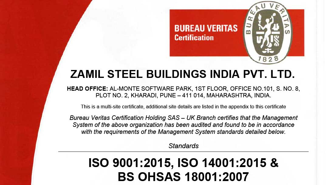 Zamil Steel India achieves IMS Certification